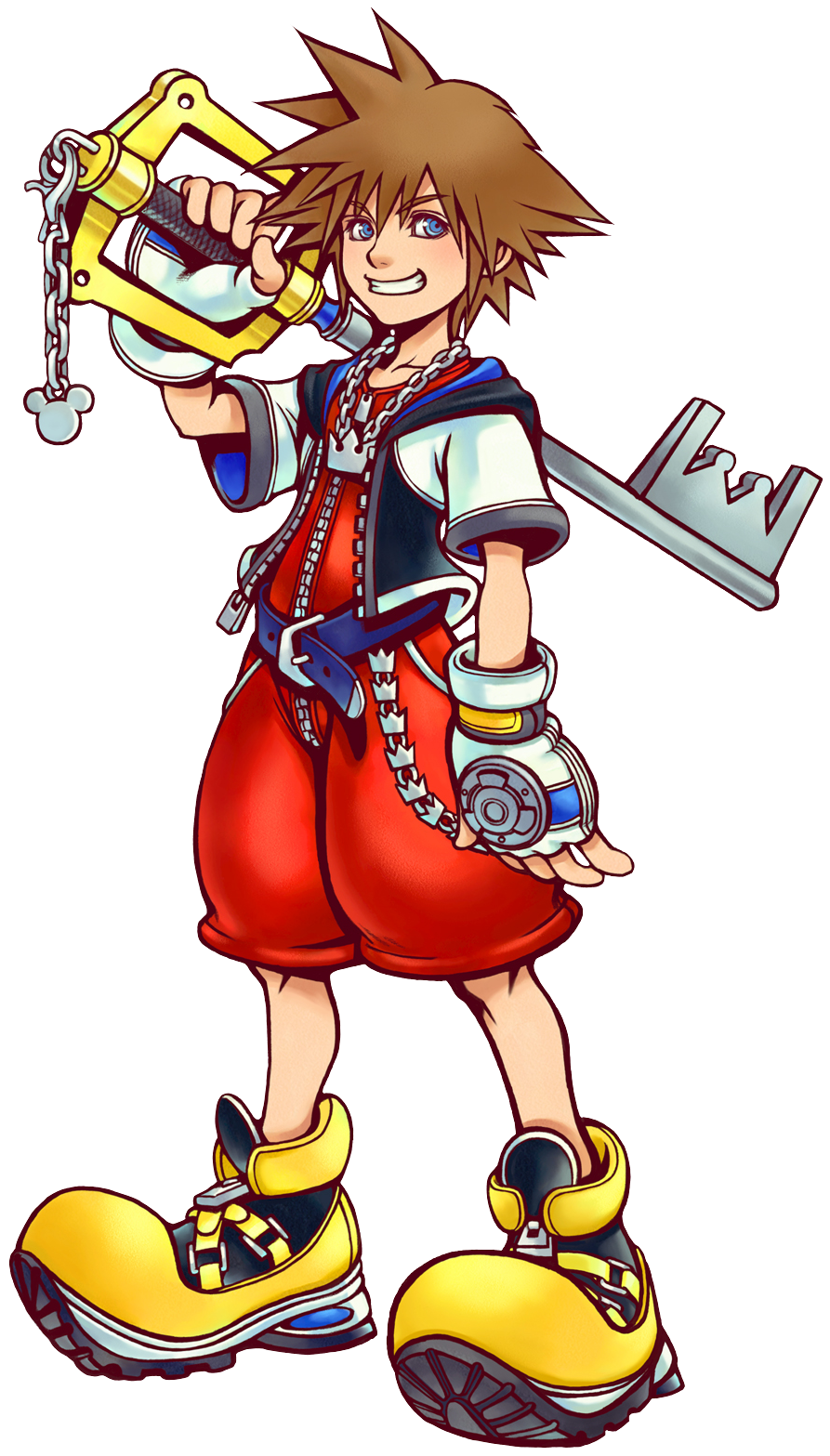 Sora (Art) KH.png - Kingdom Hearts PNG