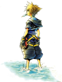 Sora as depicted in the artwork on the title screen. Kingdom Hearts PlusPng.com  - Kingdom Hearts PNG