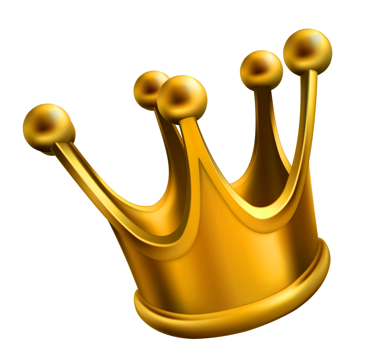 Simple Golden Crown Png Clipart - Kings Crown PNG HD