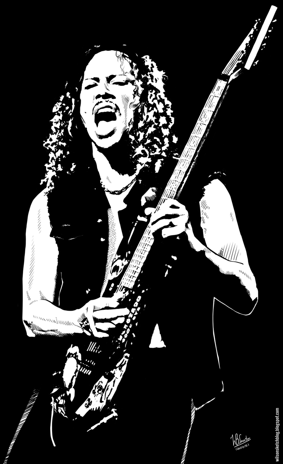 Kirk Hammett PNG - 7697