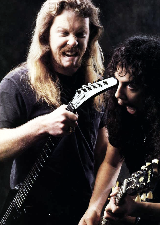 James Hetfield and Kirk Hammett 1992 - Kirk Hammett PNG