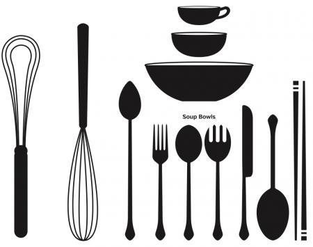 kitchen utensils vector. Kitchen Tools Utensils Vector