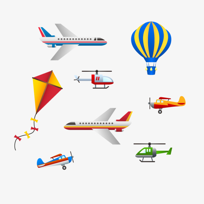 Vector hot air balloon aircraft, Hd, Vector, Kite PNG and Vector - Kite PNG HD Images