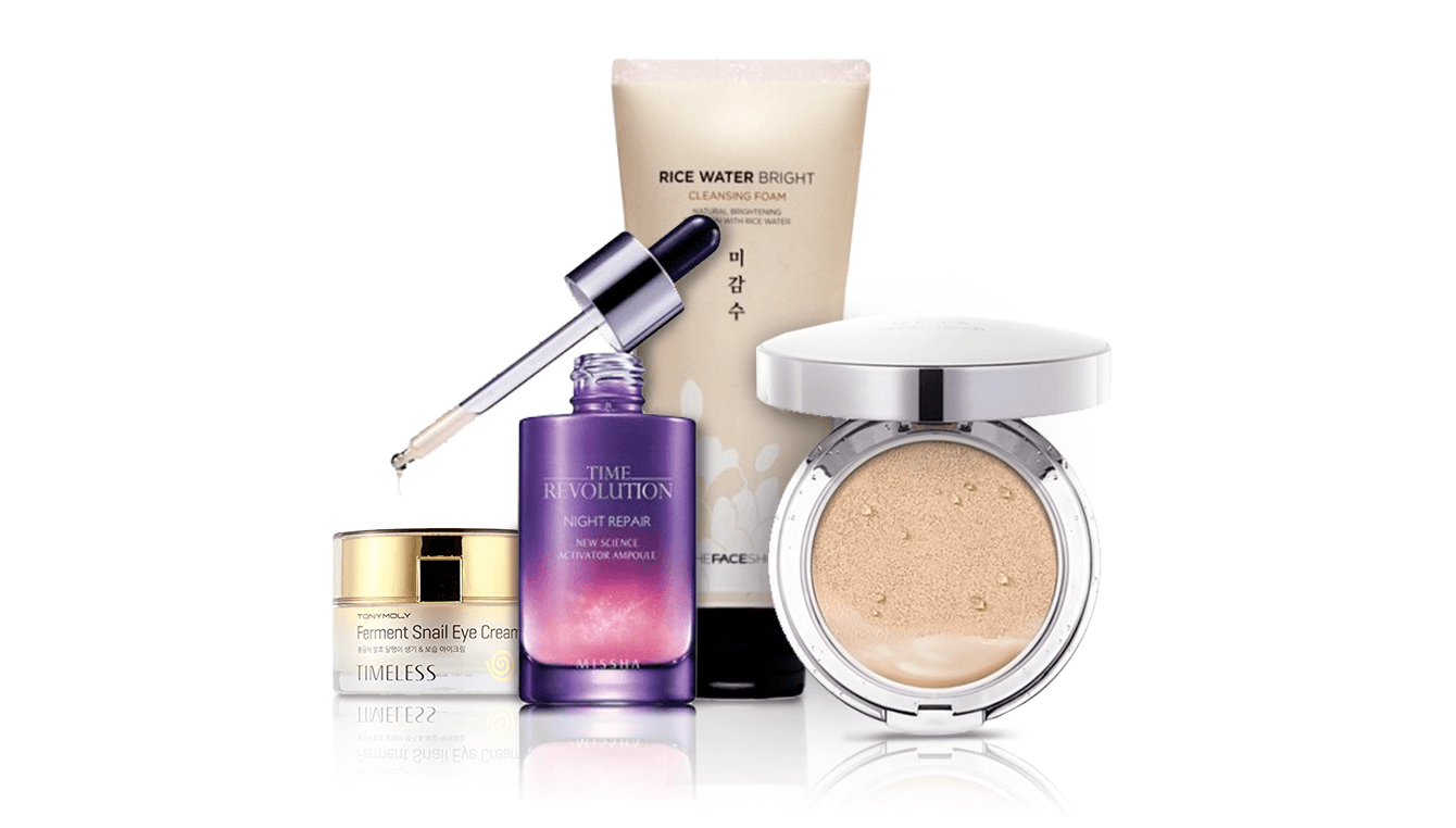 Korean Beauty - Makeup Kit Products PNG