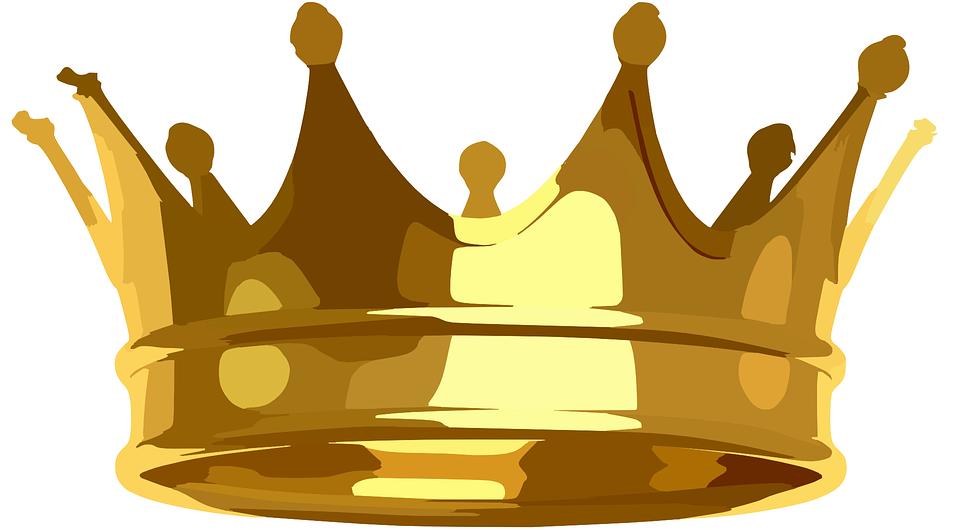 Korona, Złota, Królewski, Błyszczący, Cesarz, King - Korona PNG