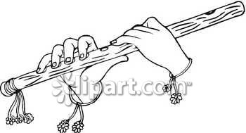 keywords clipart - Krishna Flute PNG Black And White
