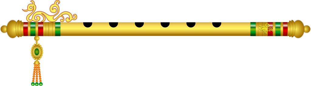 Krishna Flute PNG Black And White - 43735