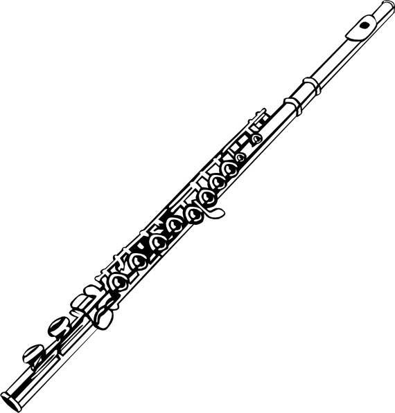 pin Black u0026 White clipart krishna bansuri #5 - Krishna Flute PNG Black And White
