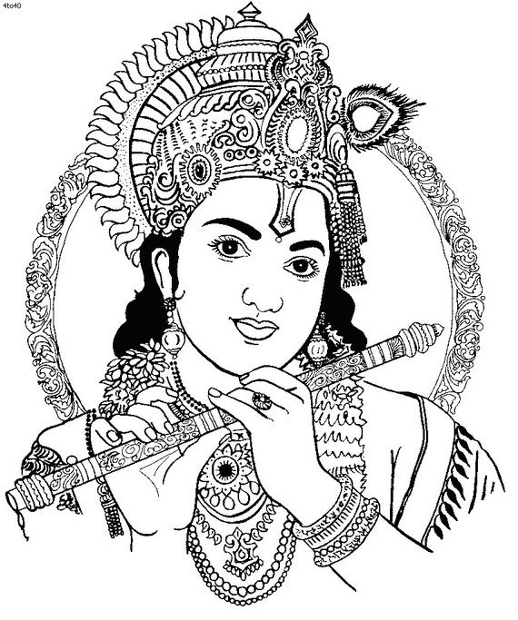 pin Krishna clipart black and white #2 - Krishna Flute PNG Black And White