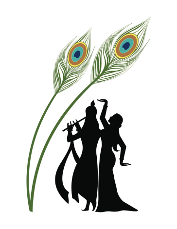 pin Peacock clipart krishna flute #5 - Krishna Flute PNG Black And White