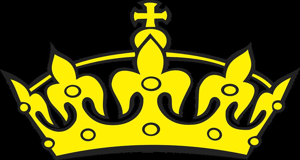 Krone, Golden, Gelb, König, Königin, Prinz, Kaiser - Krone Konigin PNG