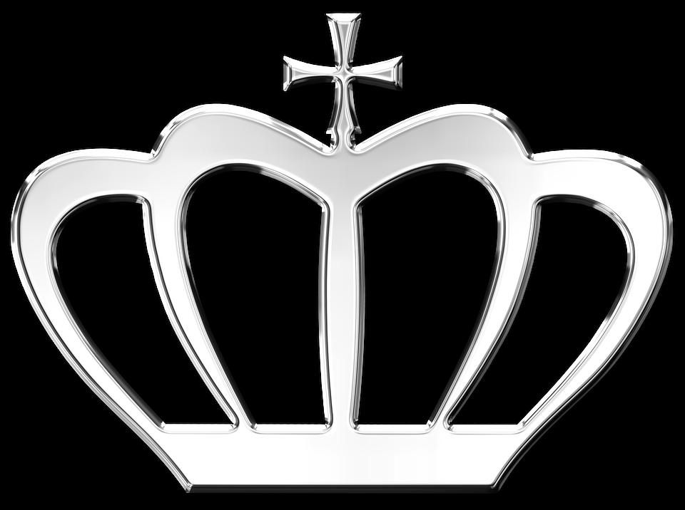Krone, Silber, Transparent, Königin, König, Glänzend - Krone Konigin PNG
