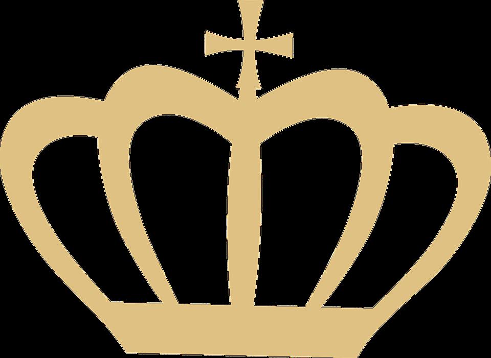 Krone, Silhouette, Gold, Clipart, König, Königin, Prinz - Krone Konigin PNG