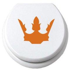 WC Deckel Aufkleber King Krone König Königin Prinz Prinzessin - Krone Konigin PNG