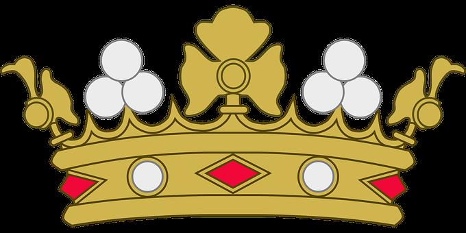Krone PNG Schwarz - 68463