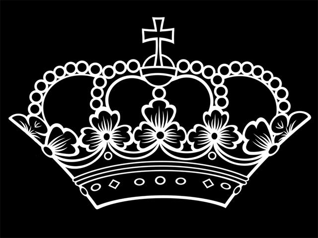 Krone PNG Schwarz - 68462