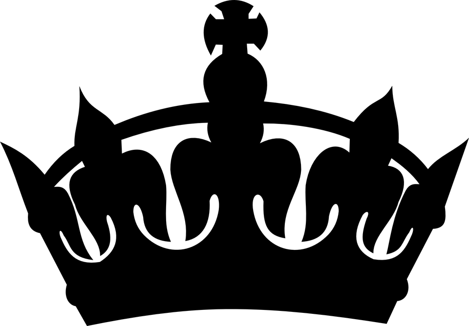 Krone PNG Schwarz - 68451