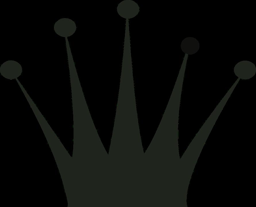 Krone PNG Schwarz - 68456