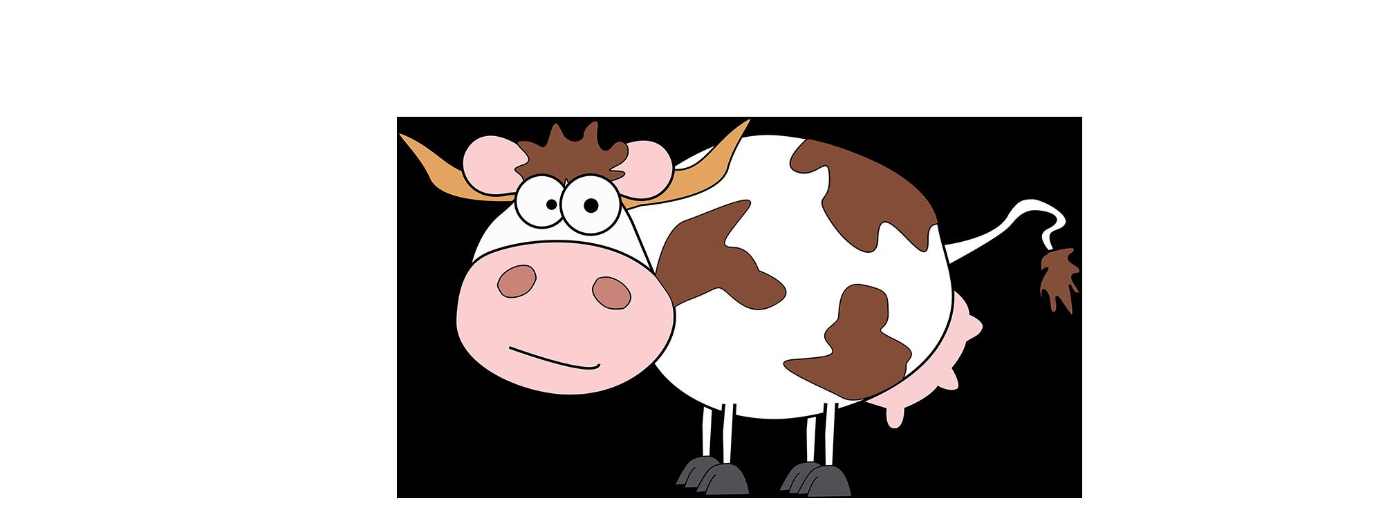 Hat eine Kuh von Herr Meier Bedarf gemelkt zu werden, kann sie sich  selbstständig zum Melkroboter bewegen. - Kuh Melken PNG