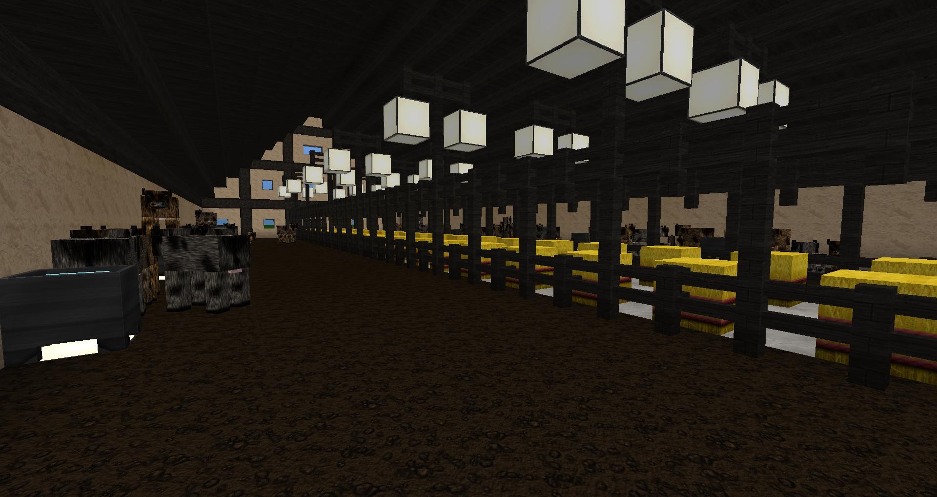 Minecraft Kuhstall bauen und einrichten - Kuhstall PNG