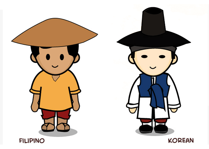korean filipino culture differences intro A - Kulturang Pinoy PNG