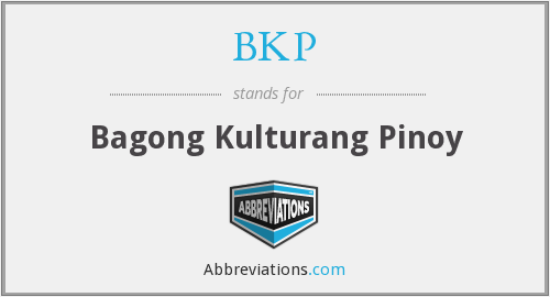 What is the abbreviation for Bagong Kulturang Pinoy? - Kulturang Pinoy PNG