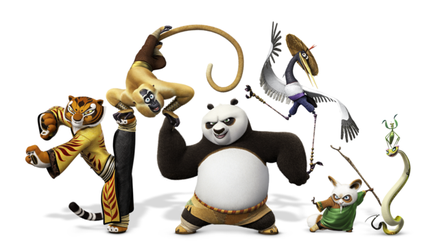 File:Kung fu panda 3 po and friends.png - Kung Fu Panda PNG HD