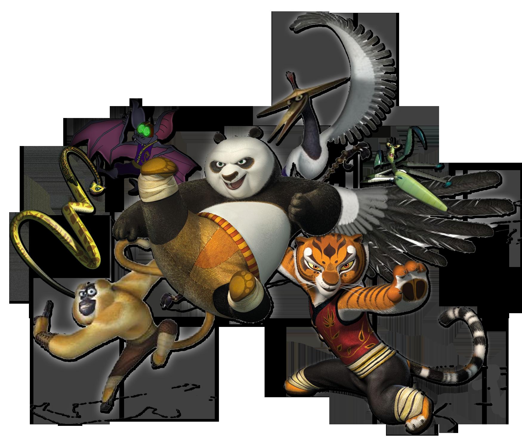 Kung Fu Panda Characters Png PNG Image - Kung Fu Panda PNG HD