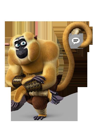 Monkey - Kung Fu Panda PNG HD