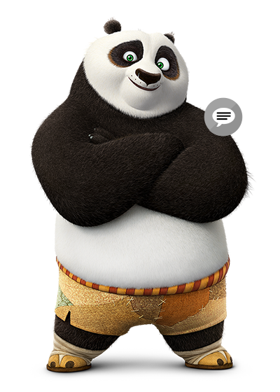 Po - Kung Fu Panda PNG HD