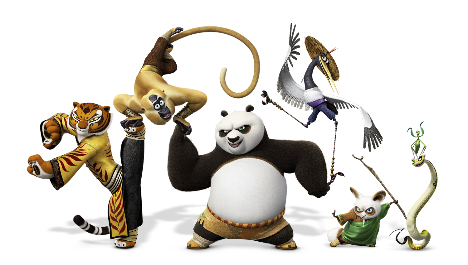 Image - Kung fu panda 3 po and friends.png | The Parody Wiki | Fandom  powered by Wikia - Kung Fu Panda PNG