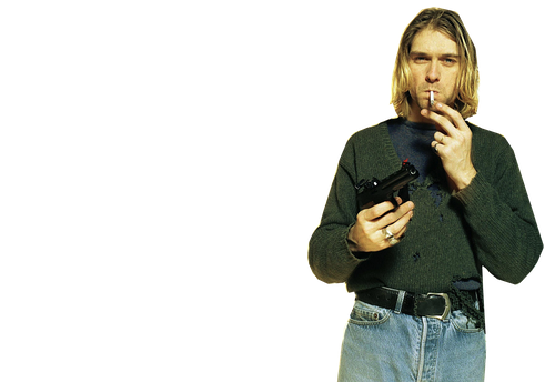 Kurt Cobain PNG-PlusPNG.com-500 - Kurt Cobain PNG
