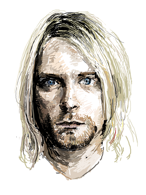 Kurt Cobain (NIRVANA) by rnik3 PlusPng.com  - Kurt Cobain PNG