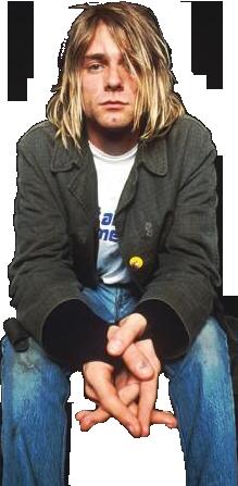 Kurt Cobain Render by sasuke-ps PlusPng.com  - Kurt Cobain PNG