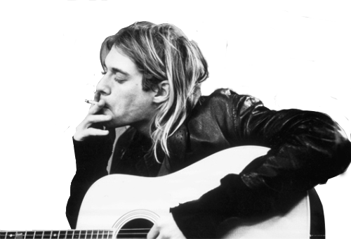 Kurt Cobain wallpaper with an acoustic guitar entitled Kurt Cobain ♥ - Kurt Cobain PNG