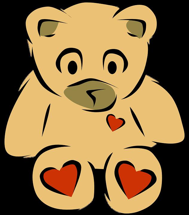 Teddy, Bär, Kuscheln, Herzen, Spielzeug, Stilisiert - Kuscheln PNG