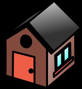 House 15 Clip Art - Kutcha House PNG