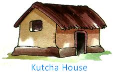 Kutcha House PNG