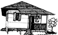 Pukka House: Strong houses made up of bricks, cement, steel and mortar are  called pukka house. For example: Flats, bungalows, apartments are the  examples of PlusPng.com  - Kutcha House PNG