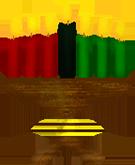 Kwanzaa candles in holder - Kwanzaa PNG