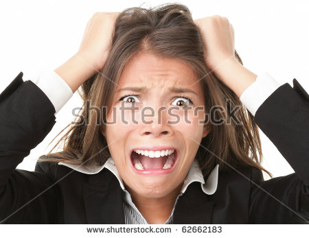 Woman stressed is going crazy pulling her hair in frustration. Close-up - Lady Pulling Her Hair Out PNG