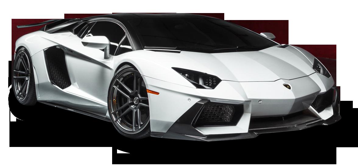 Lamborghini Aventador LP White Car PNG Image - Lamborghini PNG