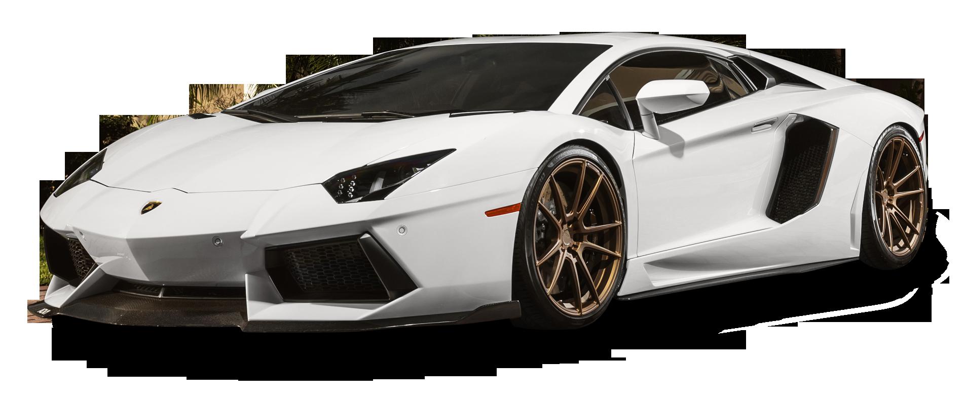 White Lamborghini Aventador Car PNG Image - Lamborghini PNG