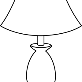 Oil Lamp Clipart Black And - Lamp PNG Black And White