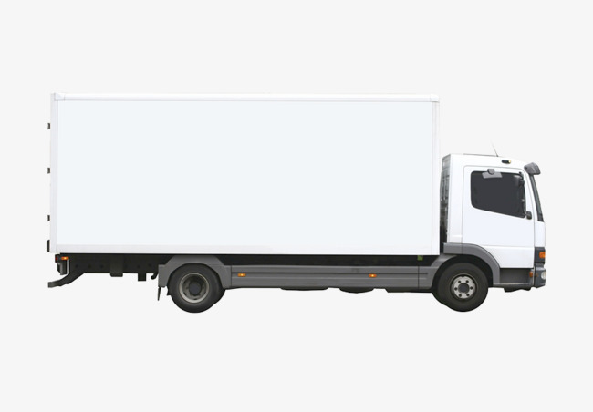 White Truck, Container, Transport, Truck PNG And PSD - Land Transportation PNG Black And White