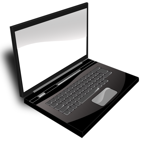 laptop clipart black and whit