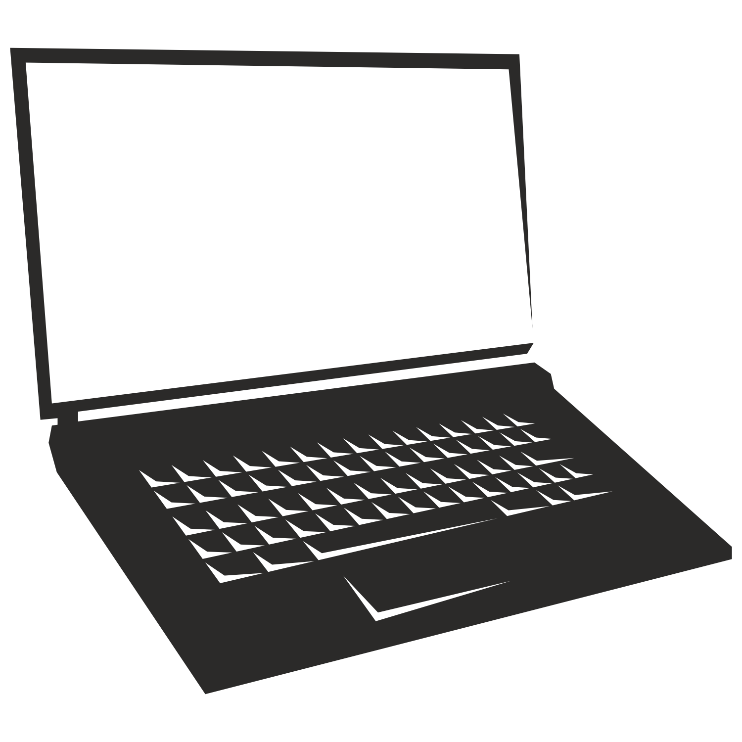 Laptop PNG Black And White - 44457