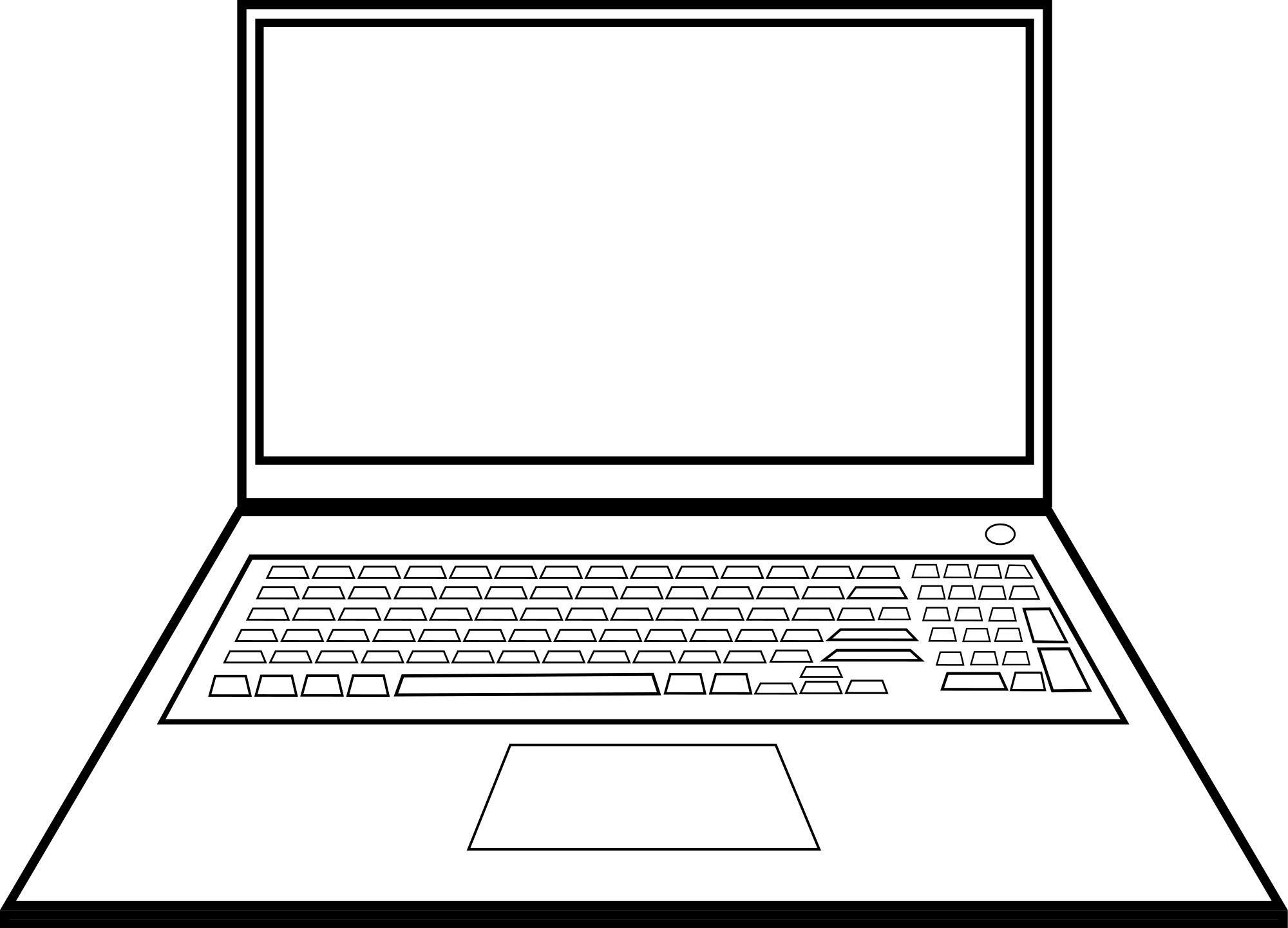 laptop black and white