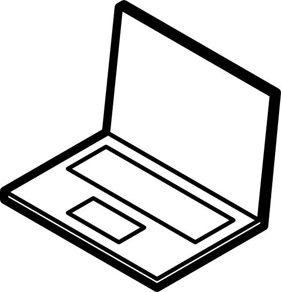 pin Laptop clipart black and white #12 - Laptop PNG Black And White