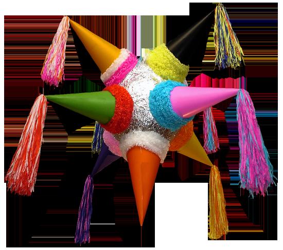 La piñata tradicional es una estrella de siete picos, cada uno recuerda los  pecados capitales: soberbia, avaricia, lujuria, ira, gula, envidia y pereza. - Las Posadas PNG